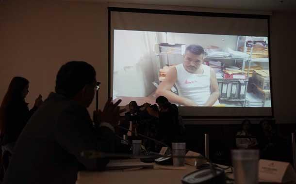 Loyo compareció por videoconferencia en el juicio político contra Atamaint