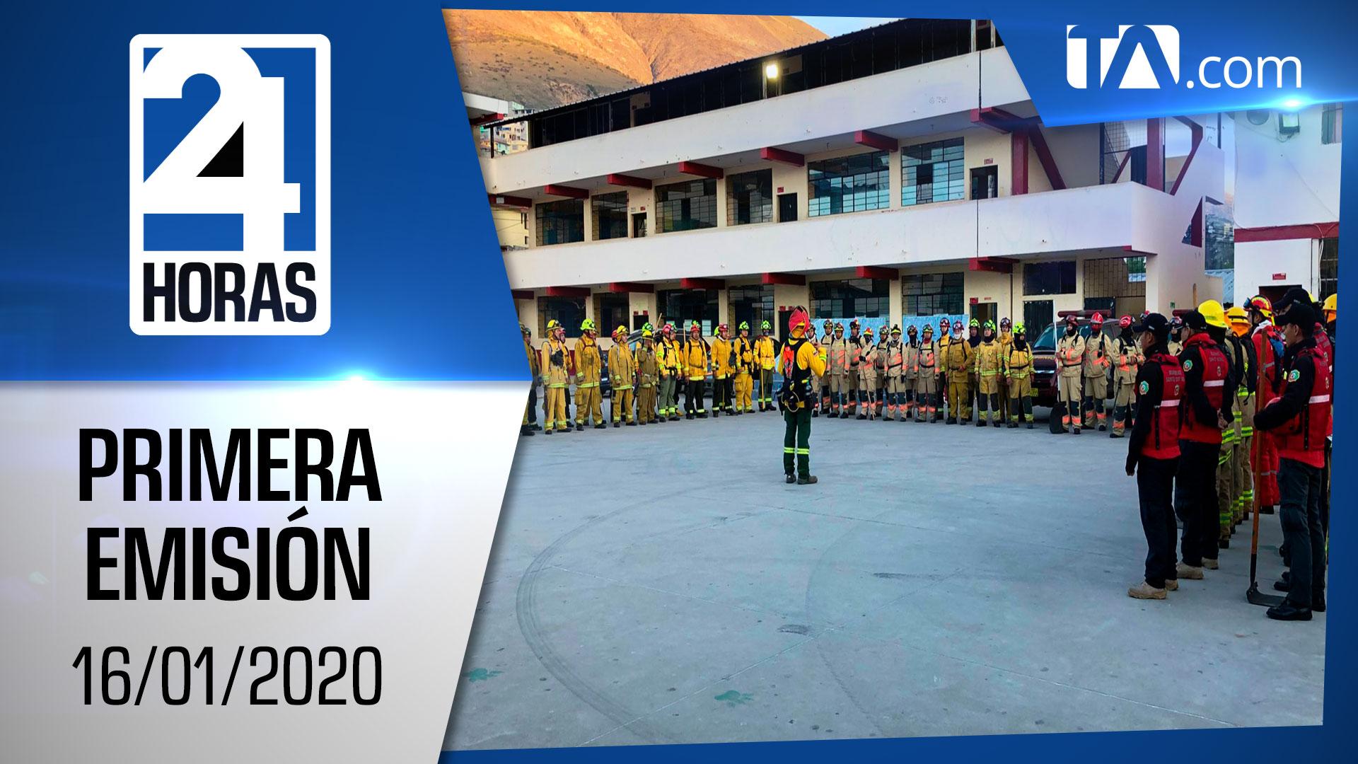 Noticias Ecuador: Noticiero 24 Horas 16/01/2020 (Primera Emisión)