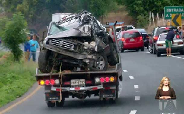 Nuevo accidente de tránsito se registró en la vía a la Costa