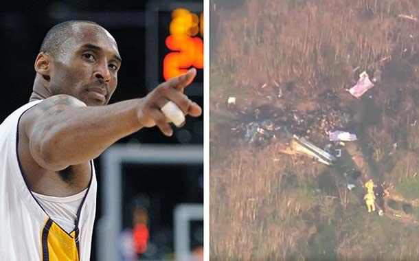 Filtran video que muestra cómo quedó el helicóptero de Kobe Bryant tras accidente