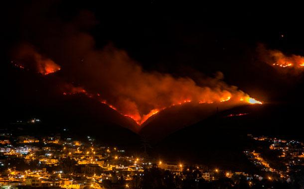 Intenso trabajo para controlar fuego en el Casitagua