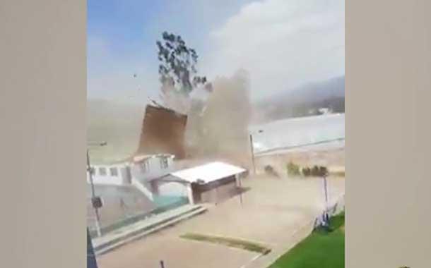 Fuertes vientos arrancan el techo de la Unidad Educativa Cayambe