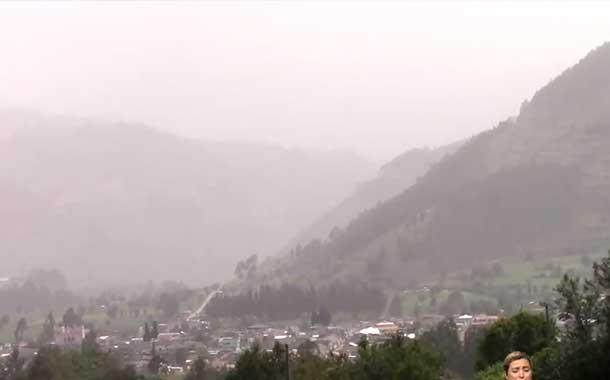 Cuatro cantones afectados por activación del volcán Sangay