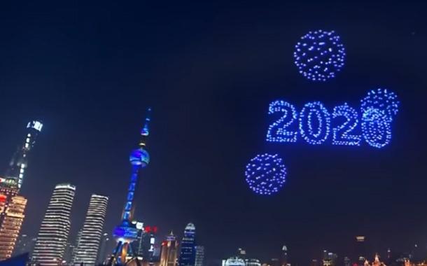 El show de drones en China fue grabado días antes