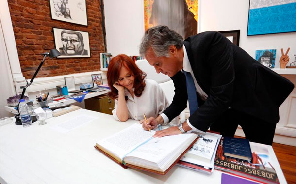 Cristina Fernández de Kirchner quedó a cargo de la presidencia por el viaje de Alberto Fernández