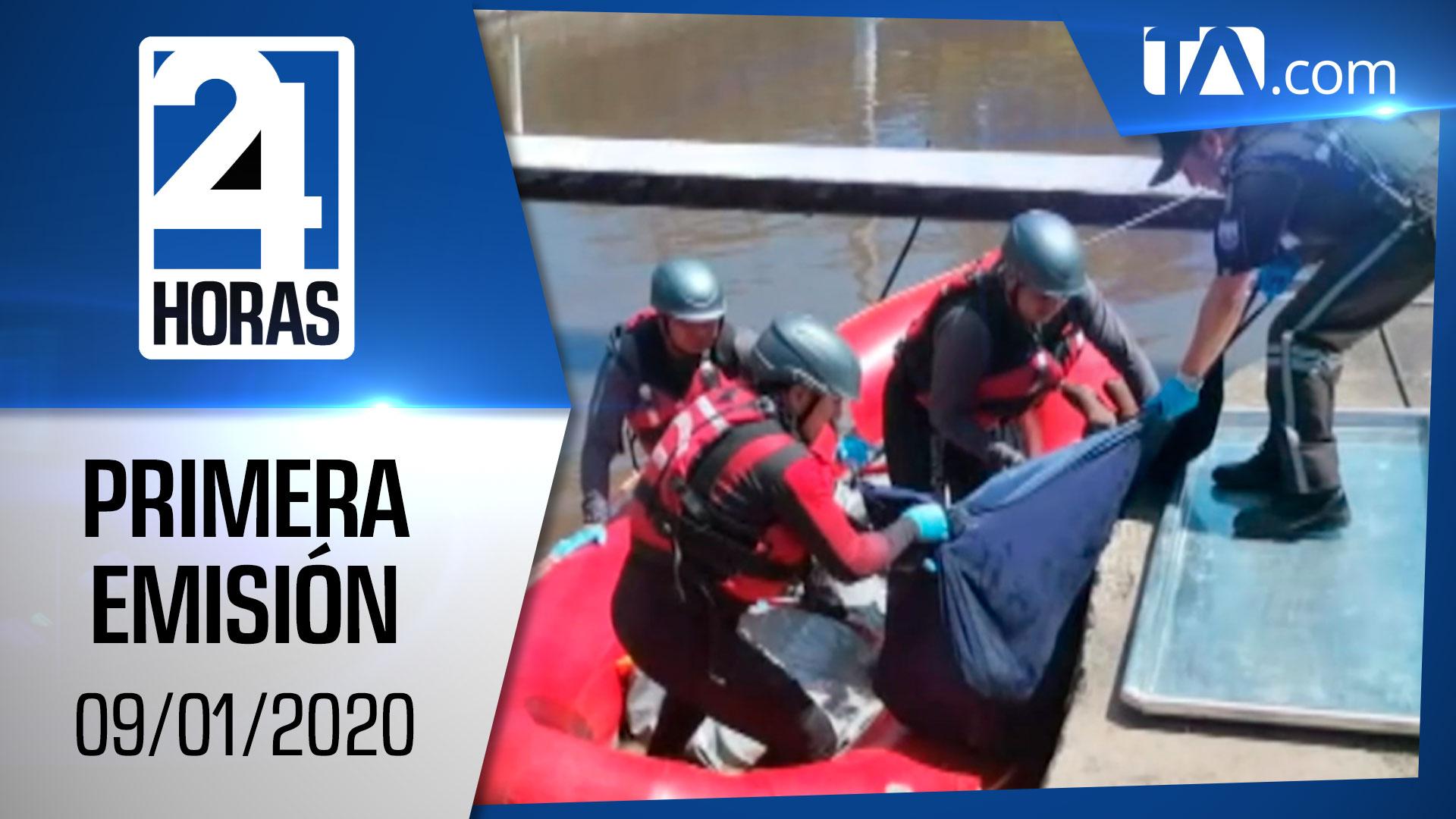 Noticias Ecuador: Noticiero 24 Horas 09/01/2020 (Primera Emisión)