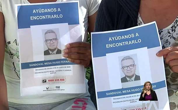 Hugo Sandoval Mesa continúa desaparecido