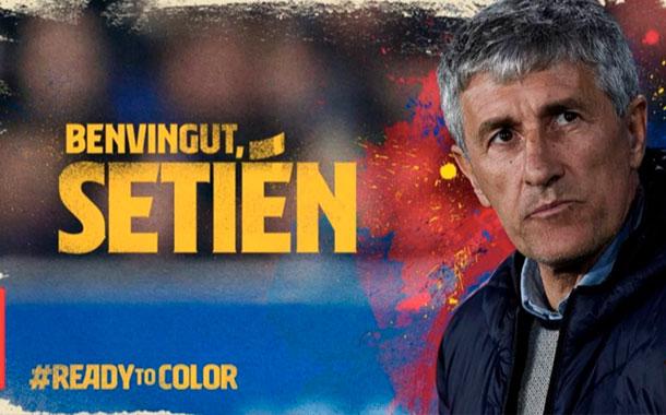 Quique Setién es oficialmente el nuevo entrenador del FC Barcelona