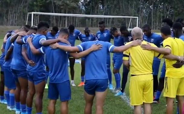 Ecuador ya quedó listo para el partido contra Colombia