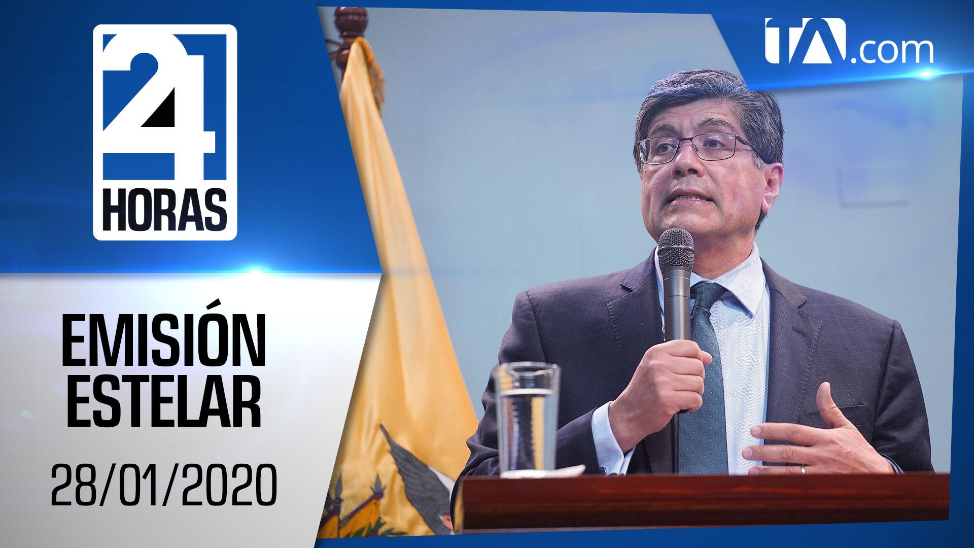 Noticiero 24 Horas, 28/01/2020 (Emisión Estelar)