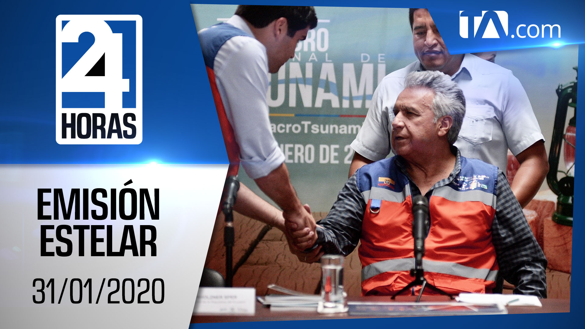 Noticiero 24 Horas, 31/01/2020 (Emisión Estelar)
