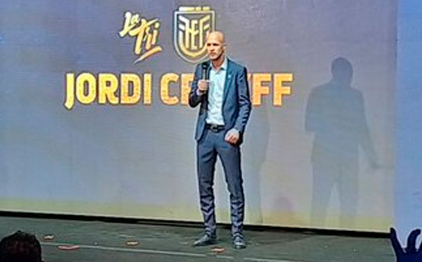 La FEF presenta a Jordi Cruyff como nuevo DT de Ecuador
