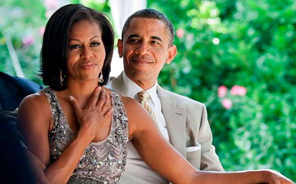 Tiernas fotos de Barack Obama y Michelle Obama