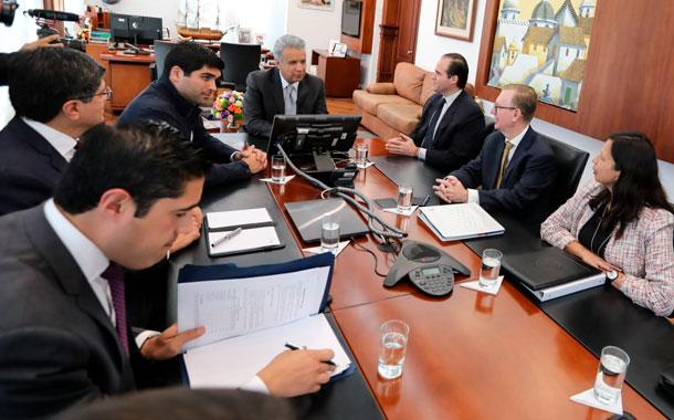 Alto funcionario de la Casa Blanca mantuvo reuniones con presidente Moreno