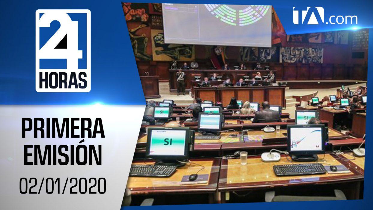 Noticias Ecuador: Noticiero 24 Horas 02/01/2020 ( Primera Emisión)