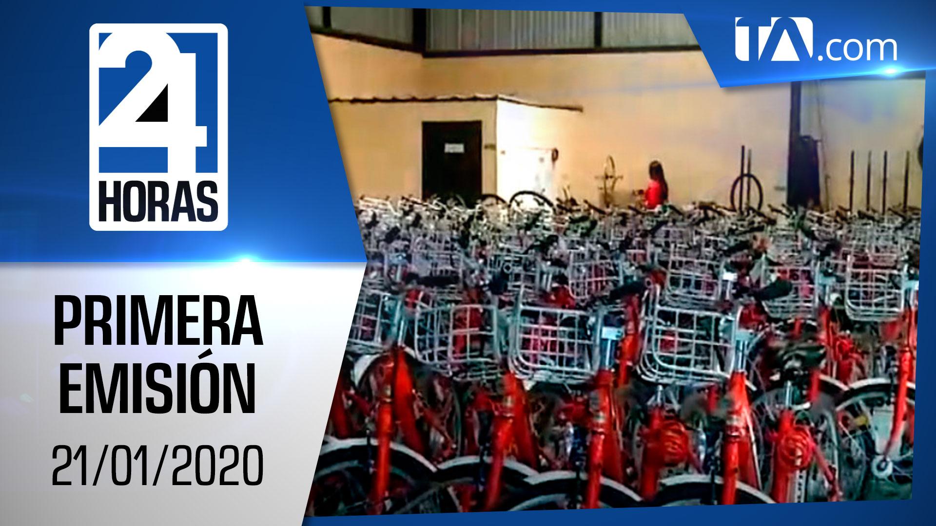 Noticias Ecuador: Noticiero 24 Horas 21/01/2020 (Primera Emisión)