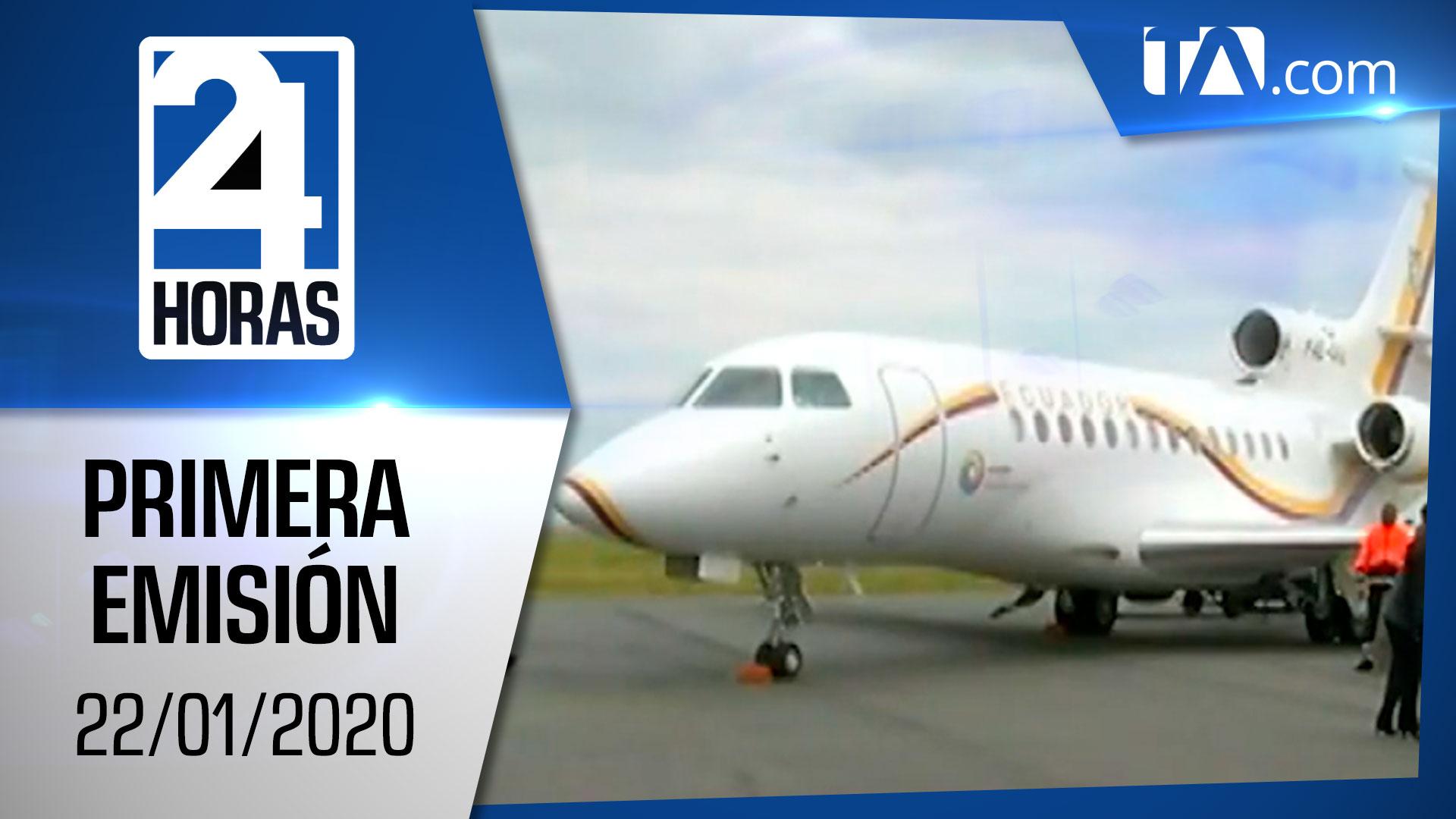 Noticias Ecuador : Noticiero 24 Horas 22/01/2021 (Primera Emisión)