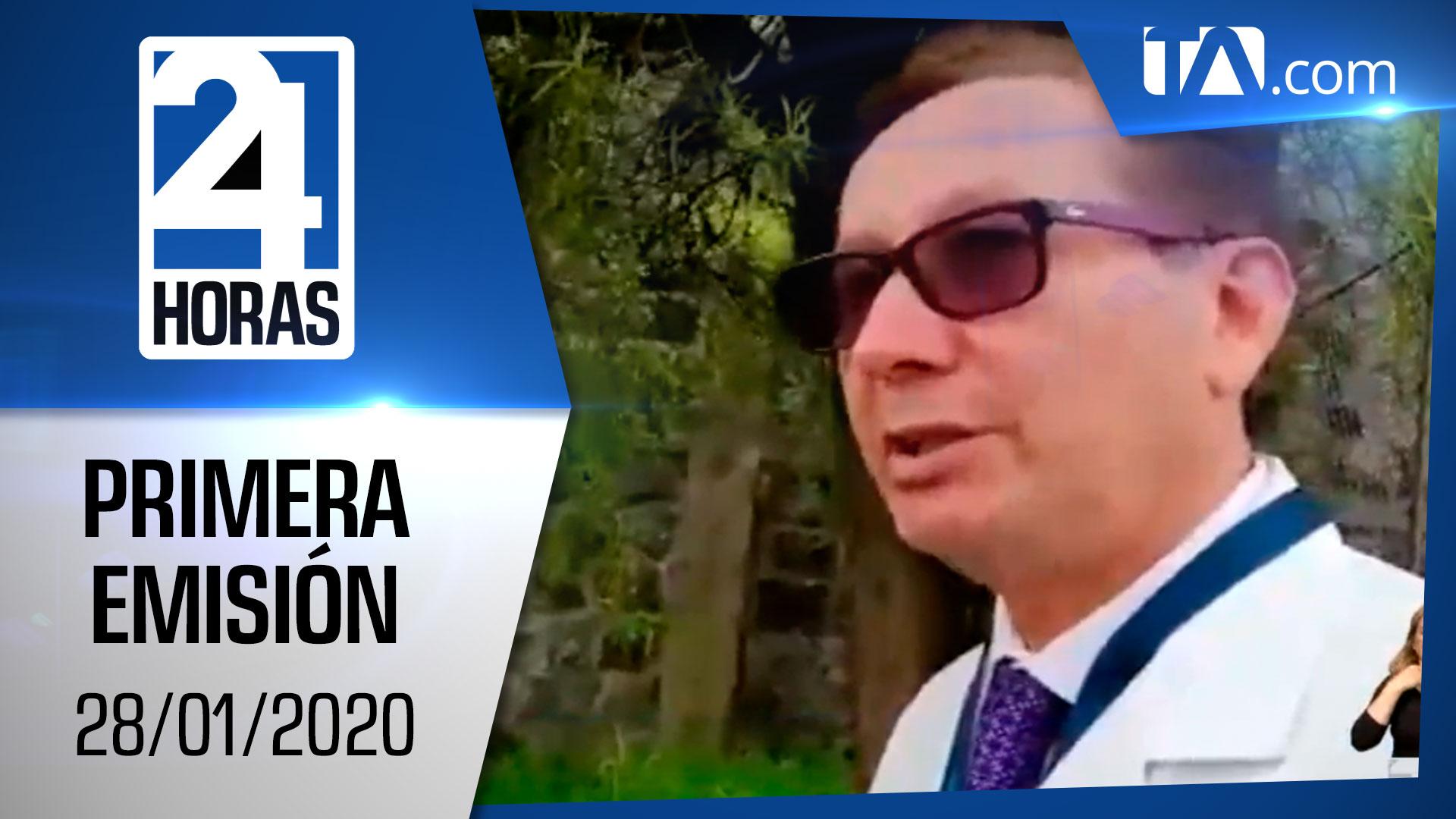 Noticias Ecuador : Noticiero 24 Horas 28/01/2020 (Primera Emisión)