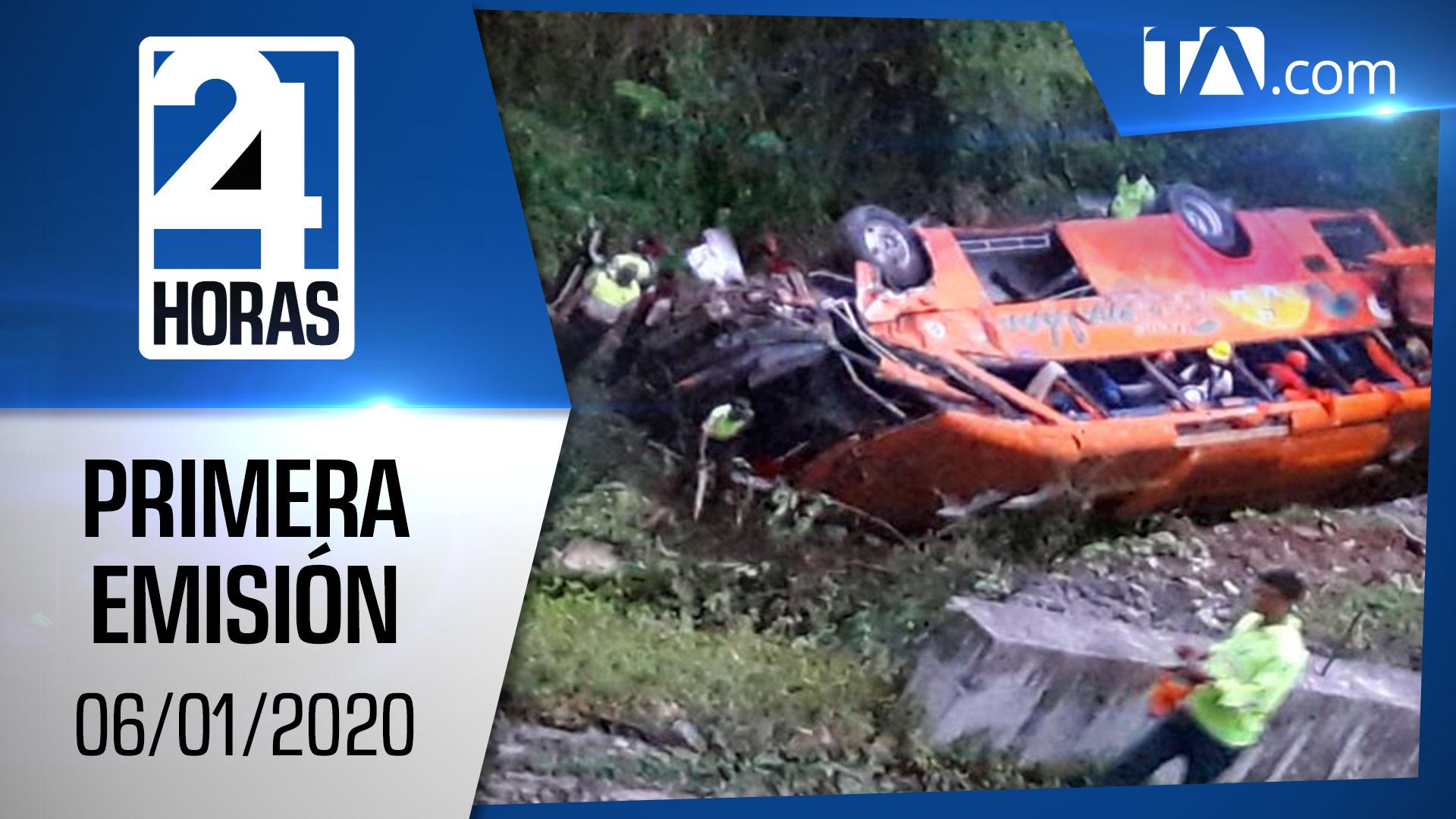 Noticias Ecuador: Noticiero 24 Horas 06/01/2020 (Primera Emisión)