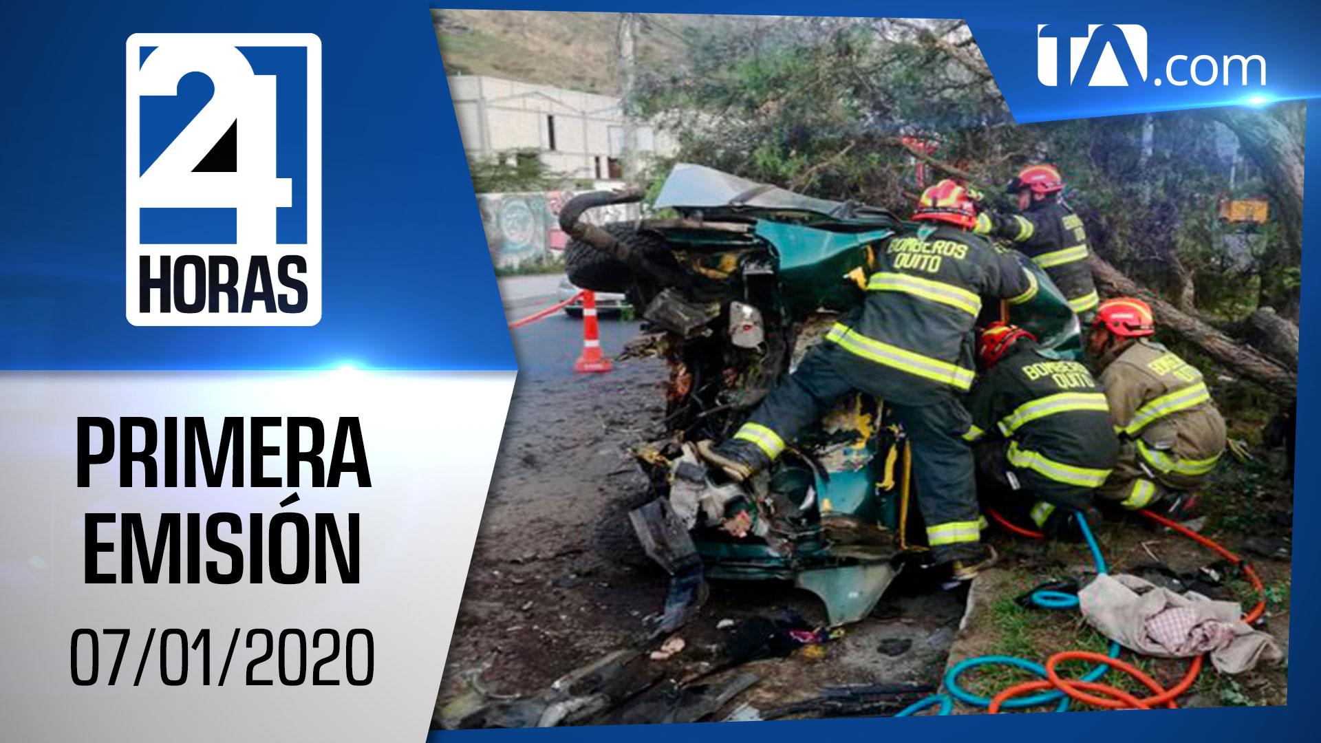 Noticias Ecuador: Noticiero 24 Horas 07/01/2020 (Primera Emisión)