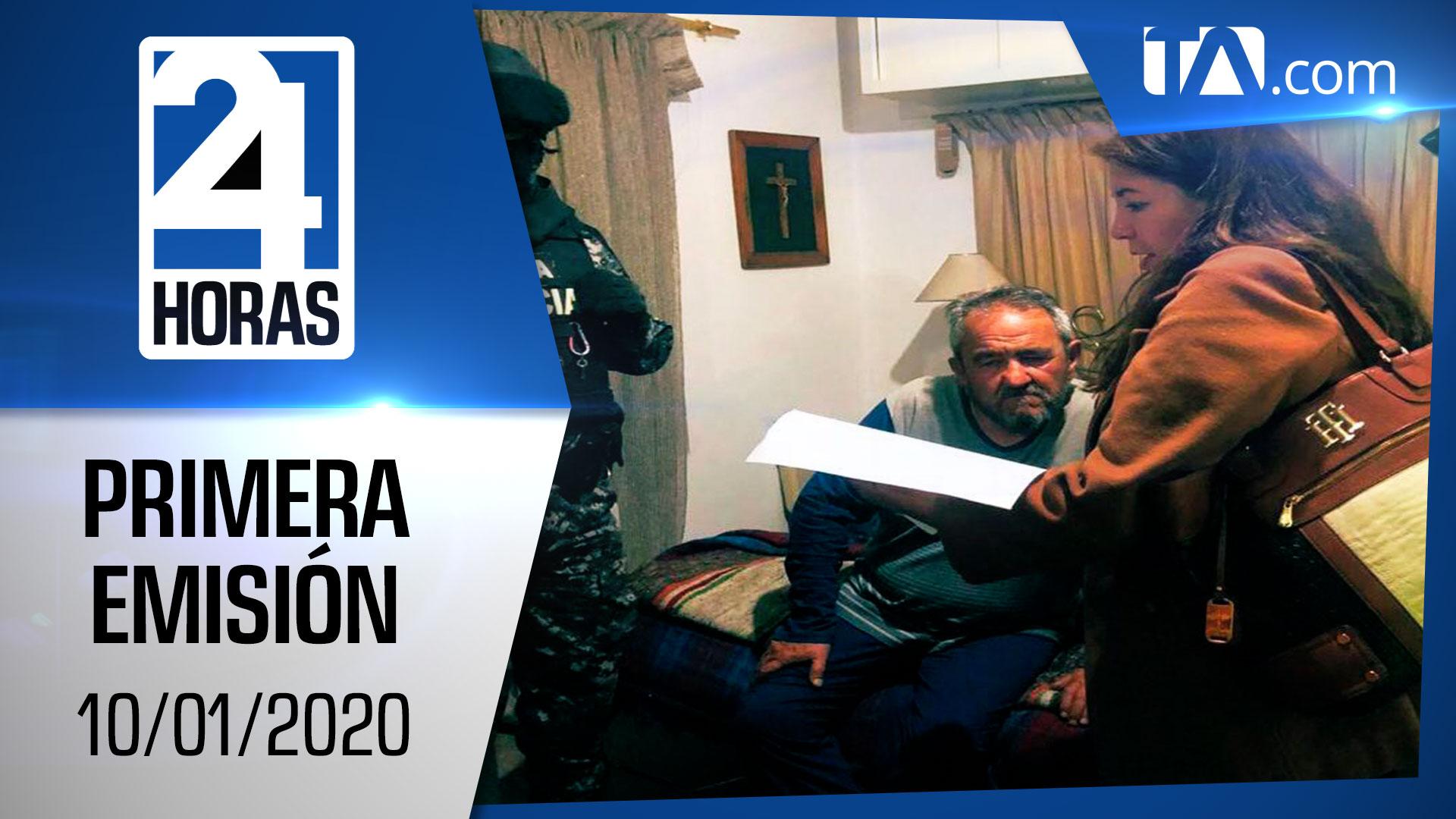 Noticias Ecuador: Noticiero 24 Horas 10/01/2020 (Primera Emisión)