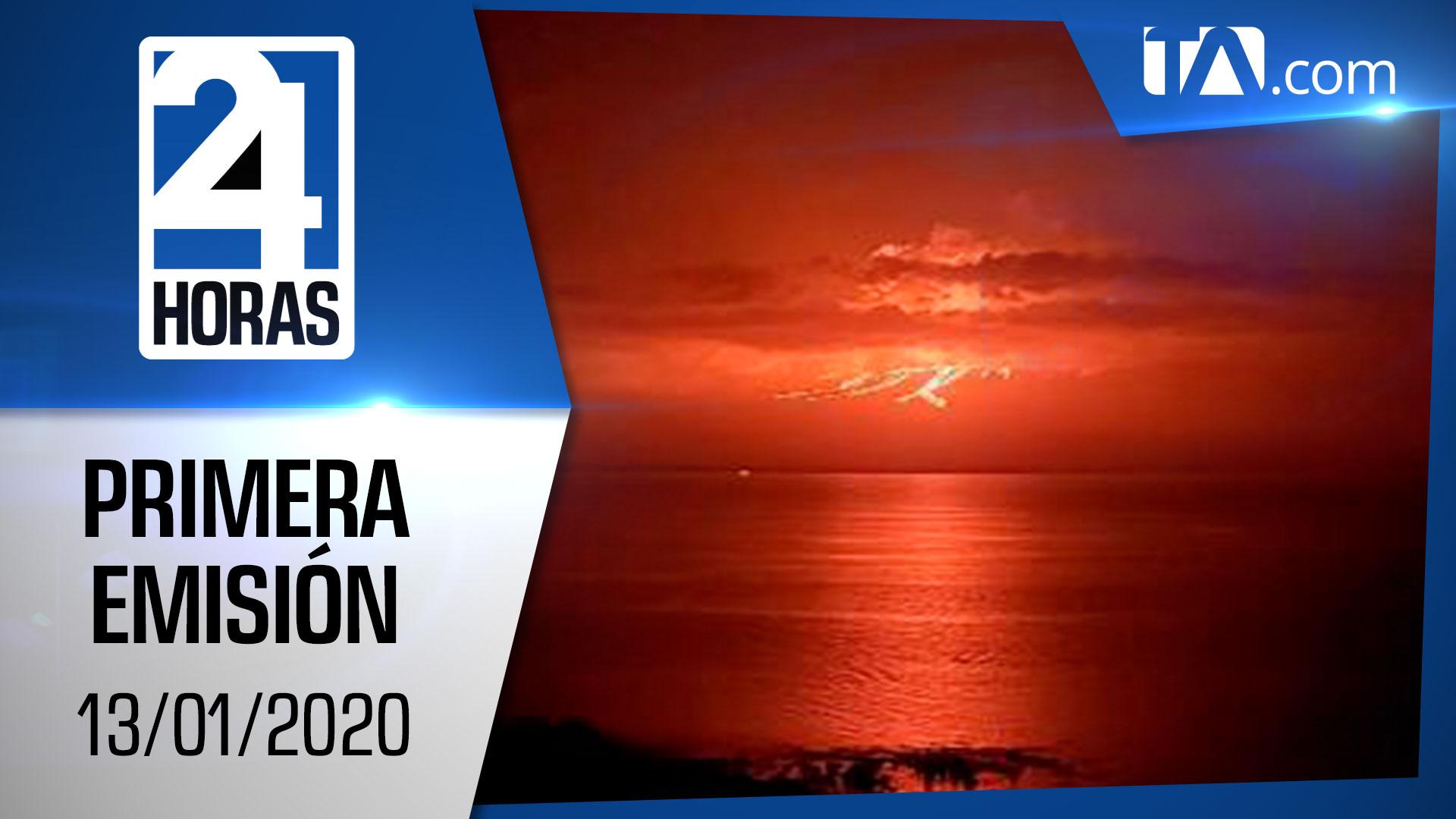 Noticias Ecuador: Noticiero 24 Horas 13/01/2020 (Primera Emisión