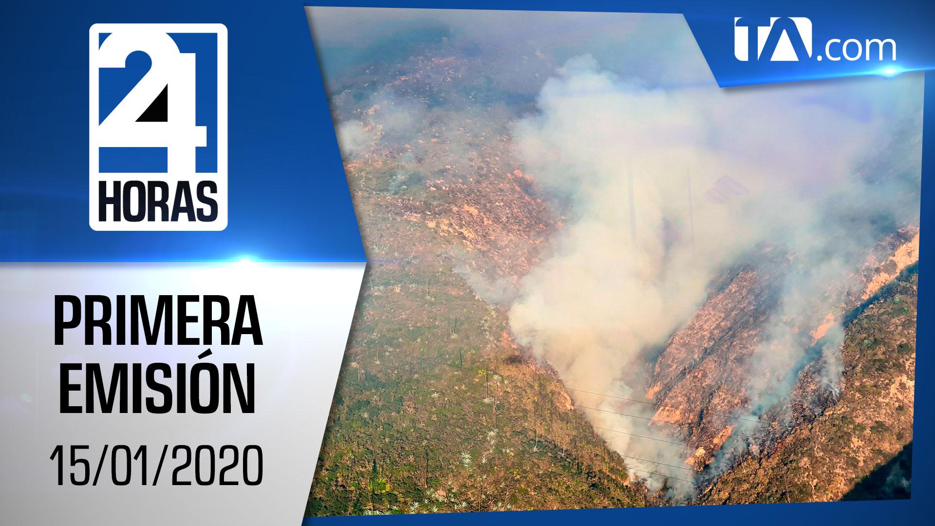 Noticias Ecuador: Noticiero 24 Horas 15/01/2020 (Primera Emisión)