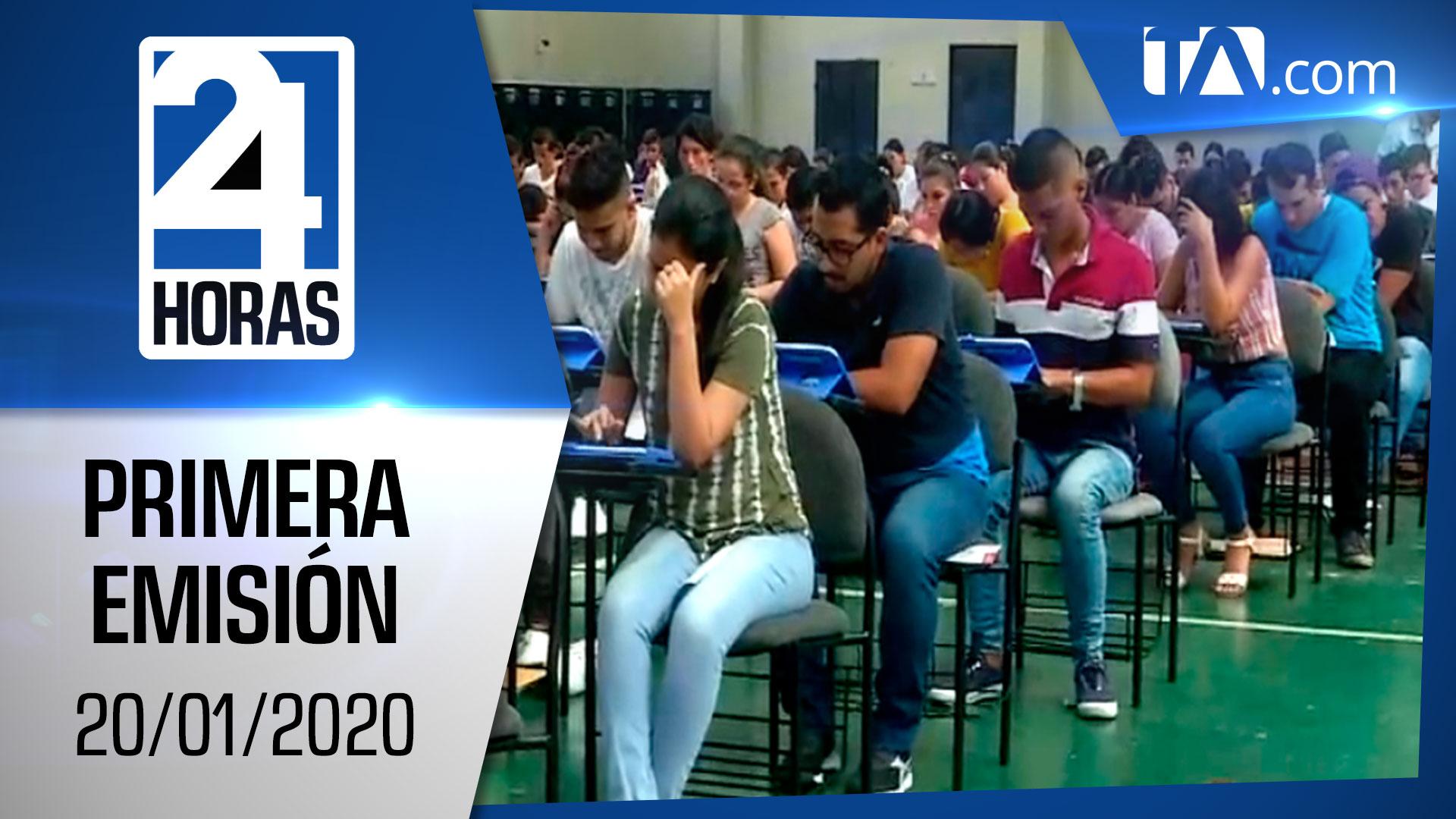 Noticias Ecuador: Noticiero 24 Horas 20/01/2020 (Primera Emisión)