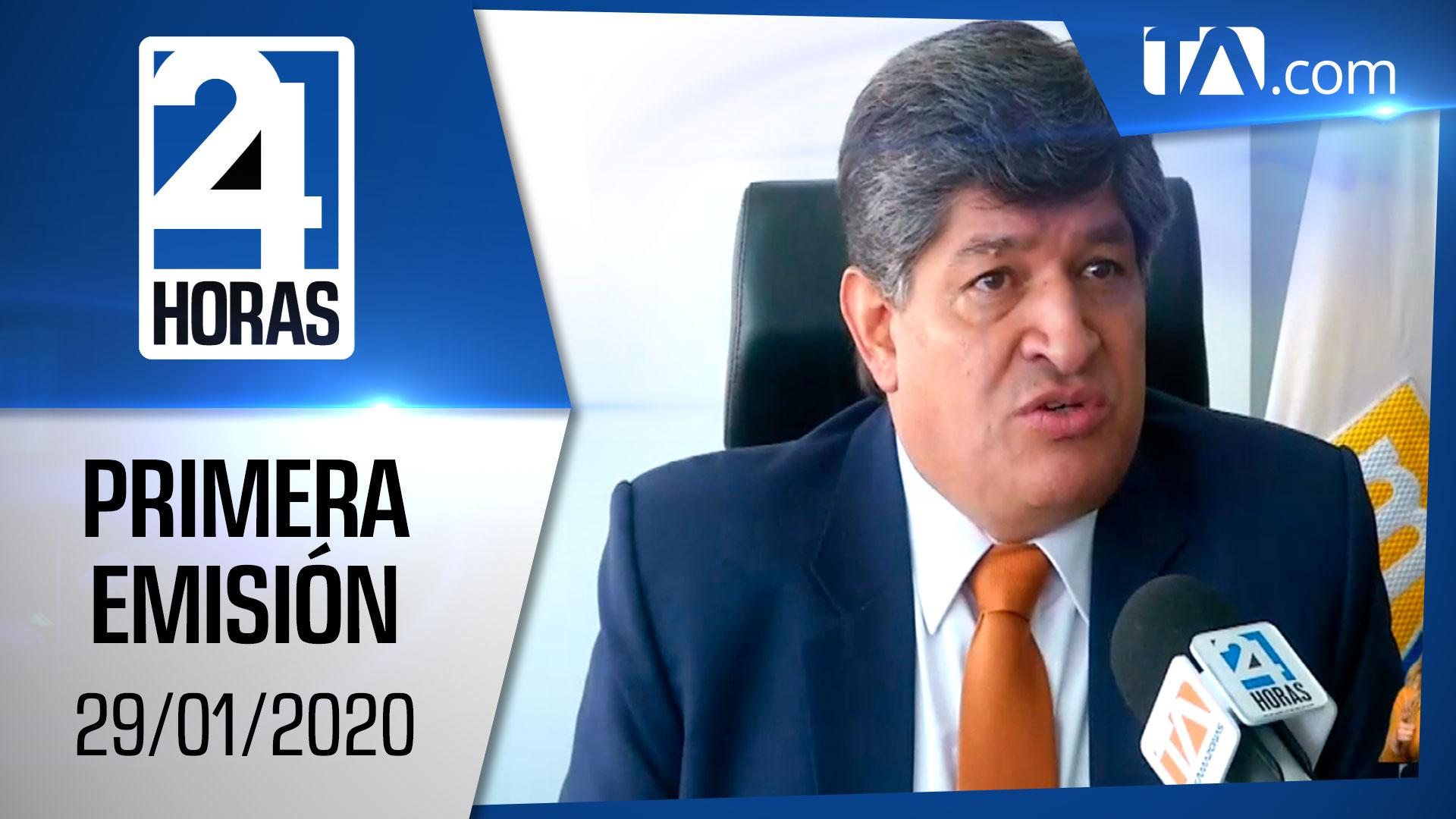Noticias Ecuador : Noticiero 24 Horas 29/01/2021 (Primera Emisión)