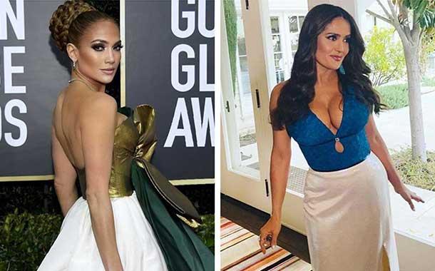 Salma Hayek publicó una foto retro con Jennifer Lopez