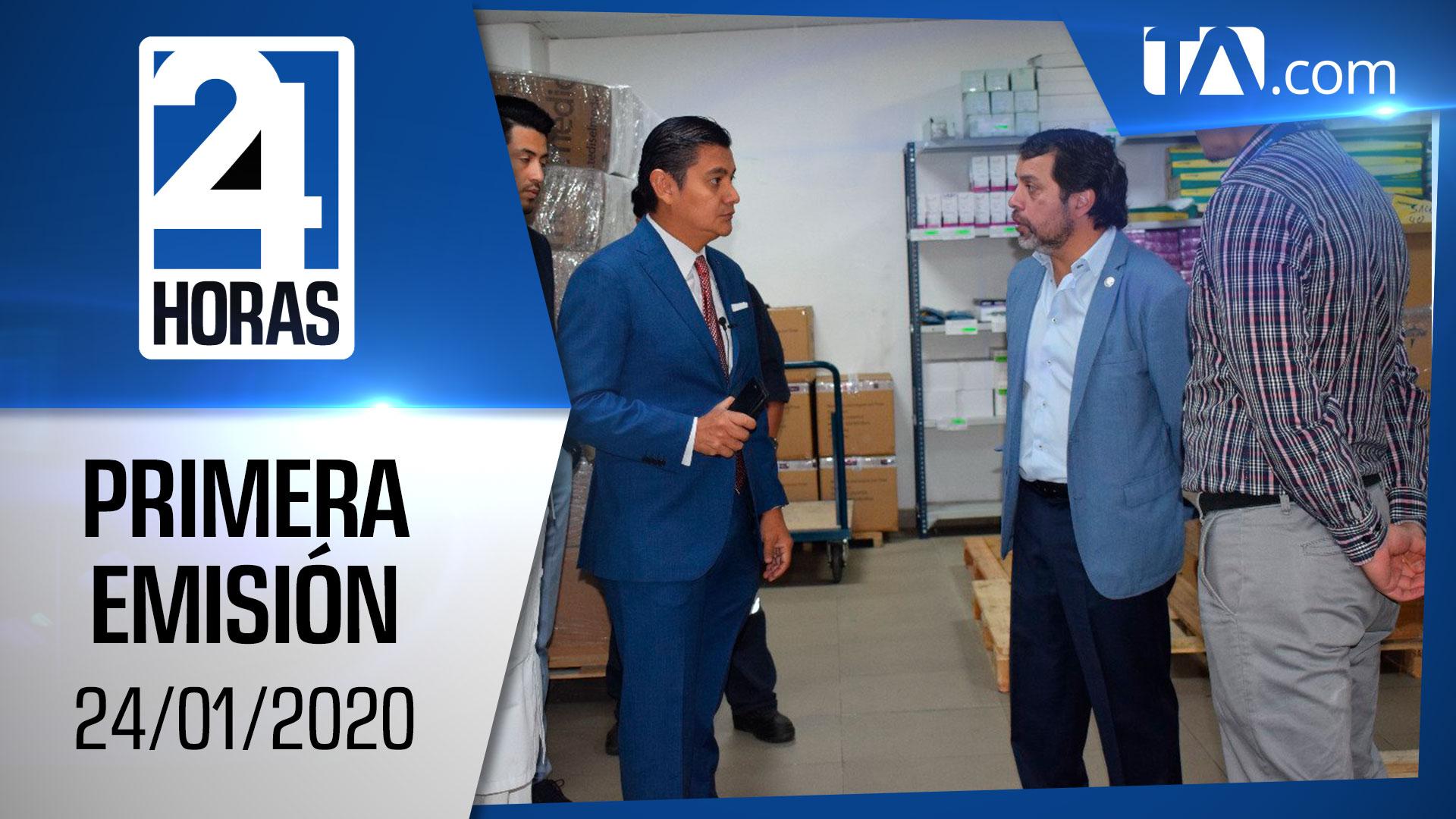Noticias Ecuador: Noticiero 24 Horas 24/01/2020 (Primera Emisión)