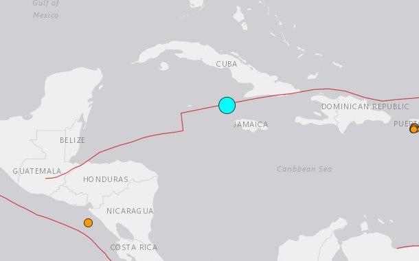 Terremoto de magnitud 7,7 sacude el Mar Caribe, al noroeste de Jamaica