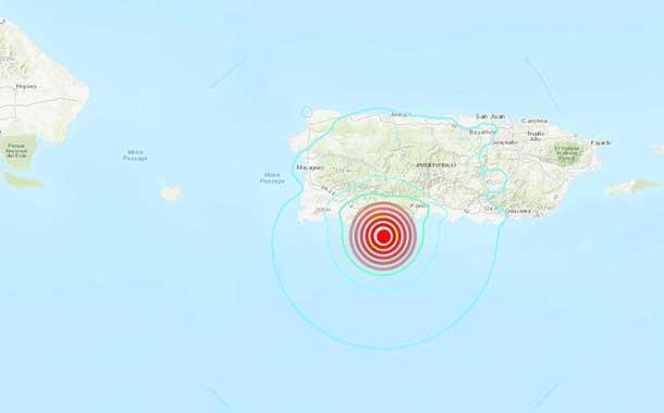 Se registra un sismo de magnitud 5,8 en el sur de Puerto Rico