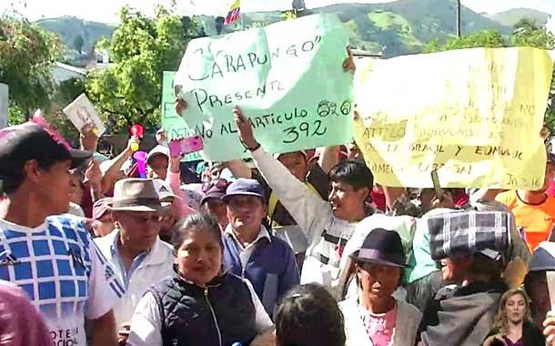Vendedores informales se retiraron satisfechos del Municipio de Quito