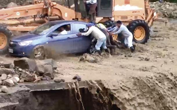 Lluvias provocan cierre de vía entre los cantones Cumandá y Pallatanga