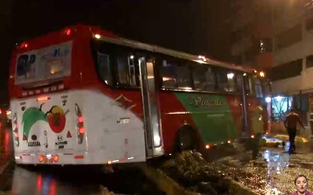 Las fuertes lluvias de Quito provocaron accidentes de tránsito