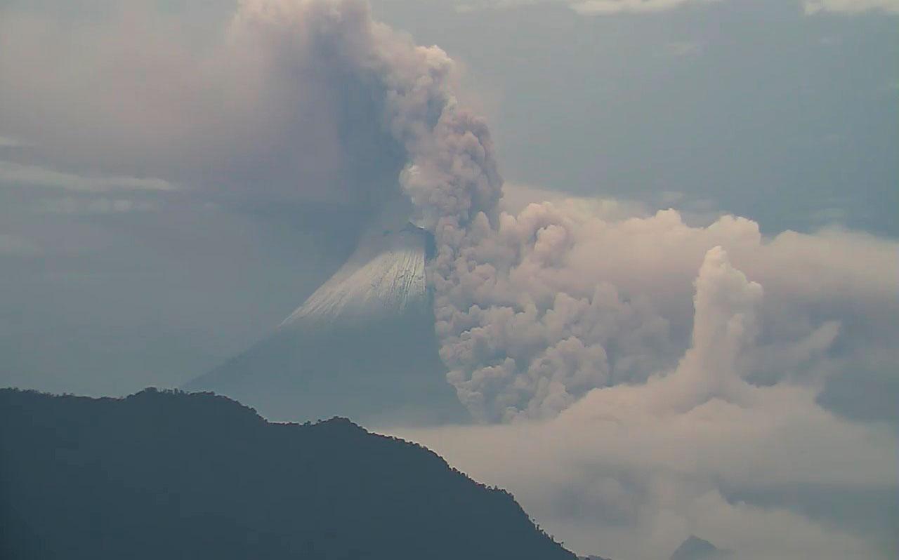 Instituto Geofísico registra flujos piroclásticos en volcán Sangay