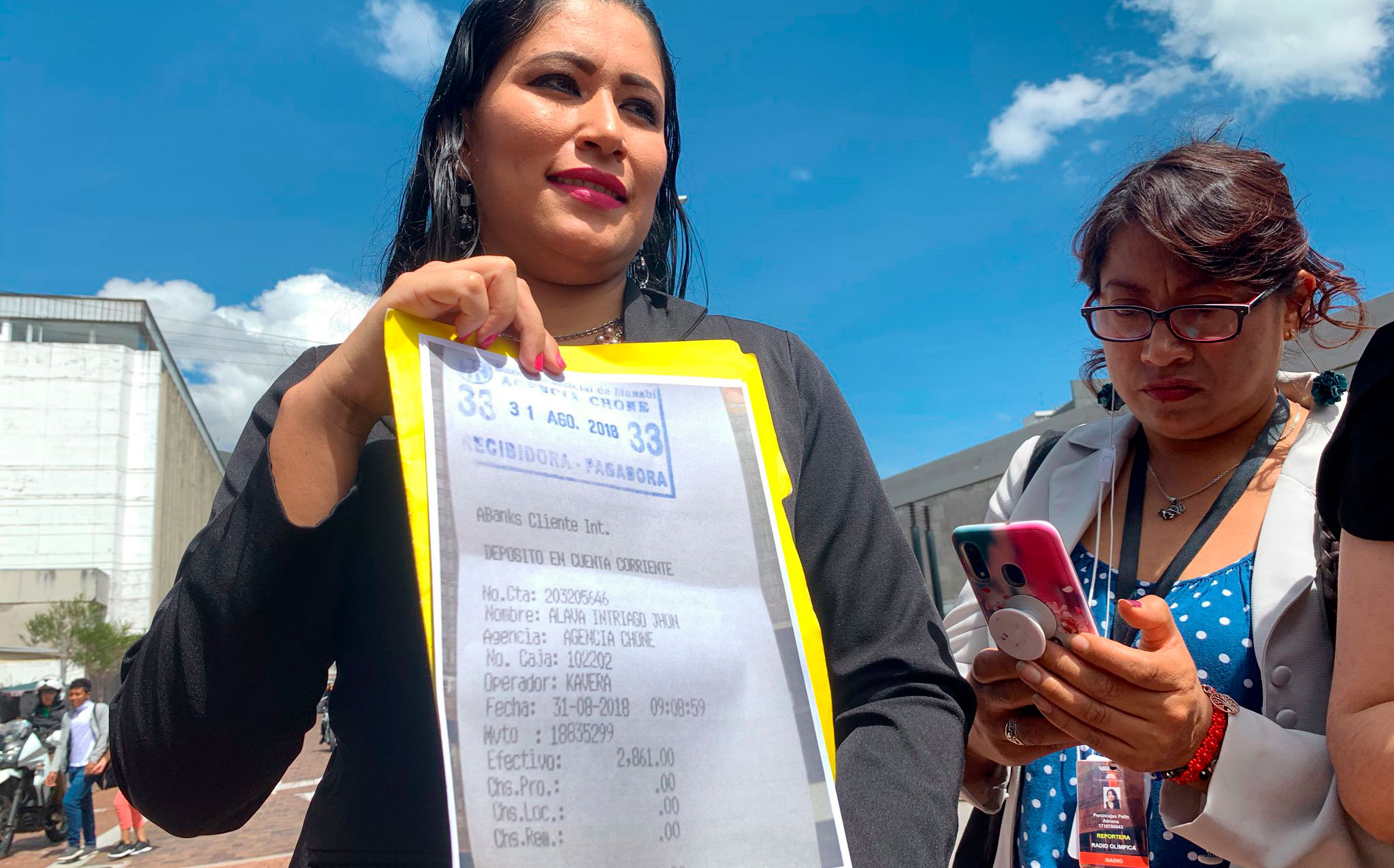 Tercera denuncia por  diezmos en contra de la asambleísta  Karina Arteaga