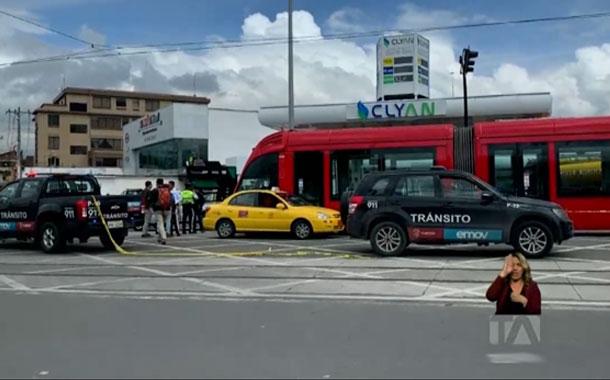 Accidente del tranvía en Cuenca deja daños materiales
