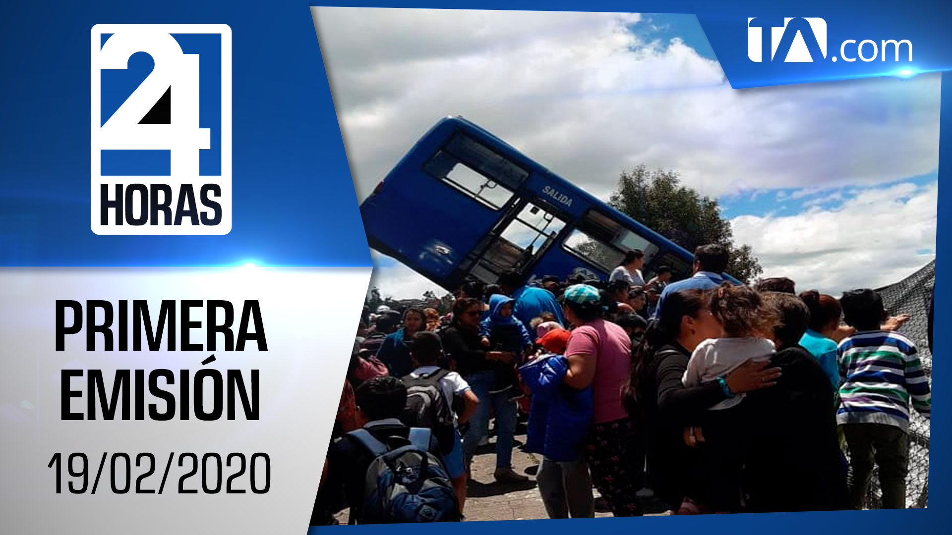 Noticias Ecuador: Noticiero 24 Horas 19/02/2020 (Primera Emisión)