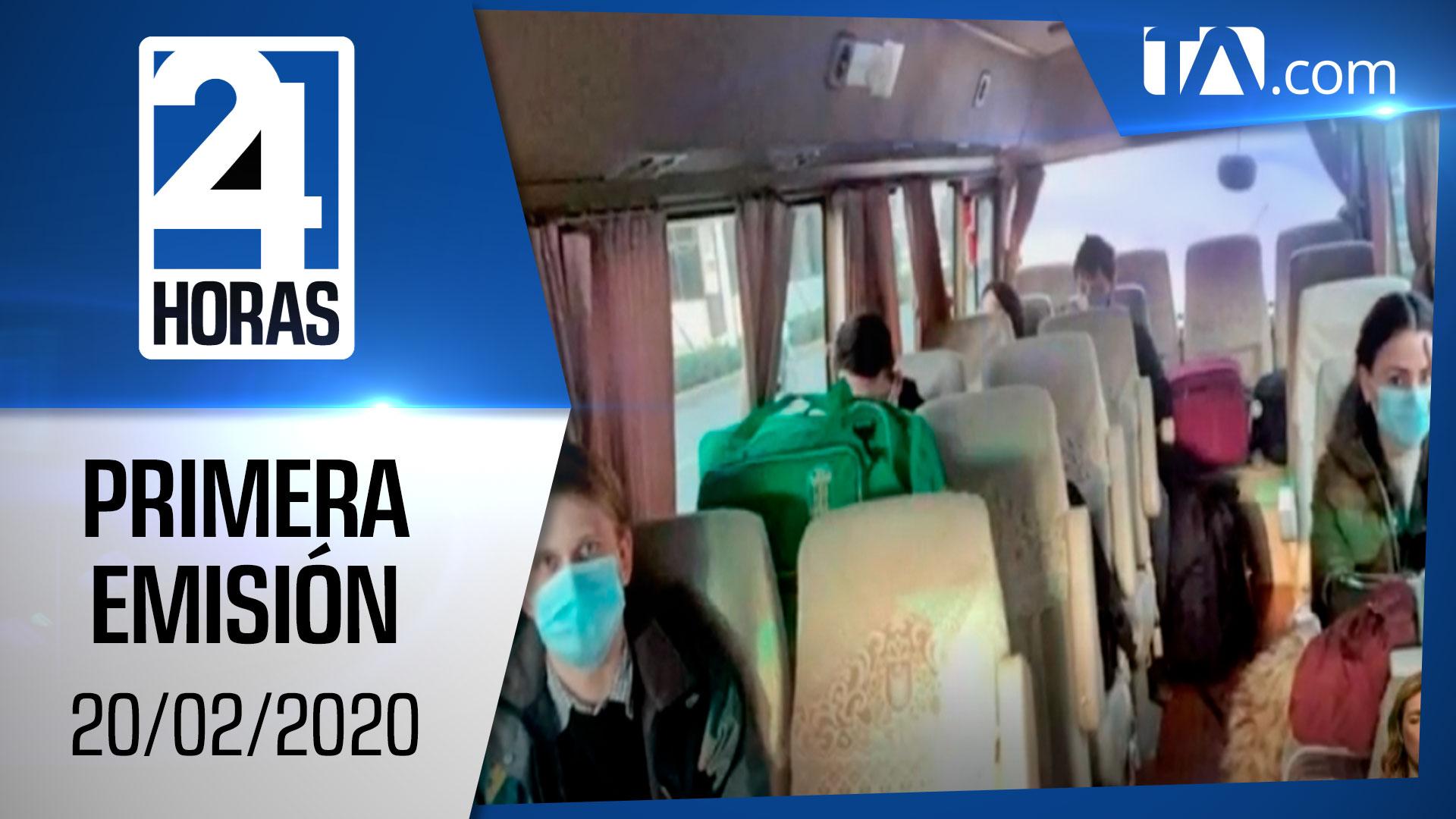 Noticias Ecuador: Noticiero 24 Horas 20/02/2020 ( Primera Emisión)