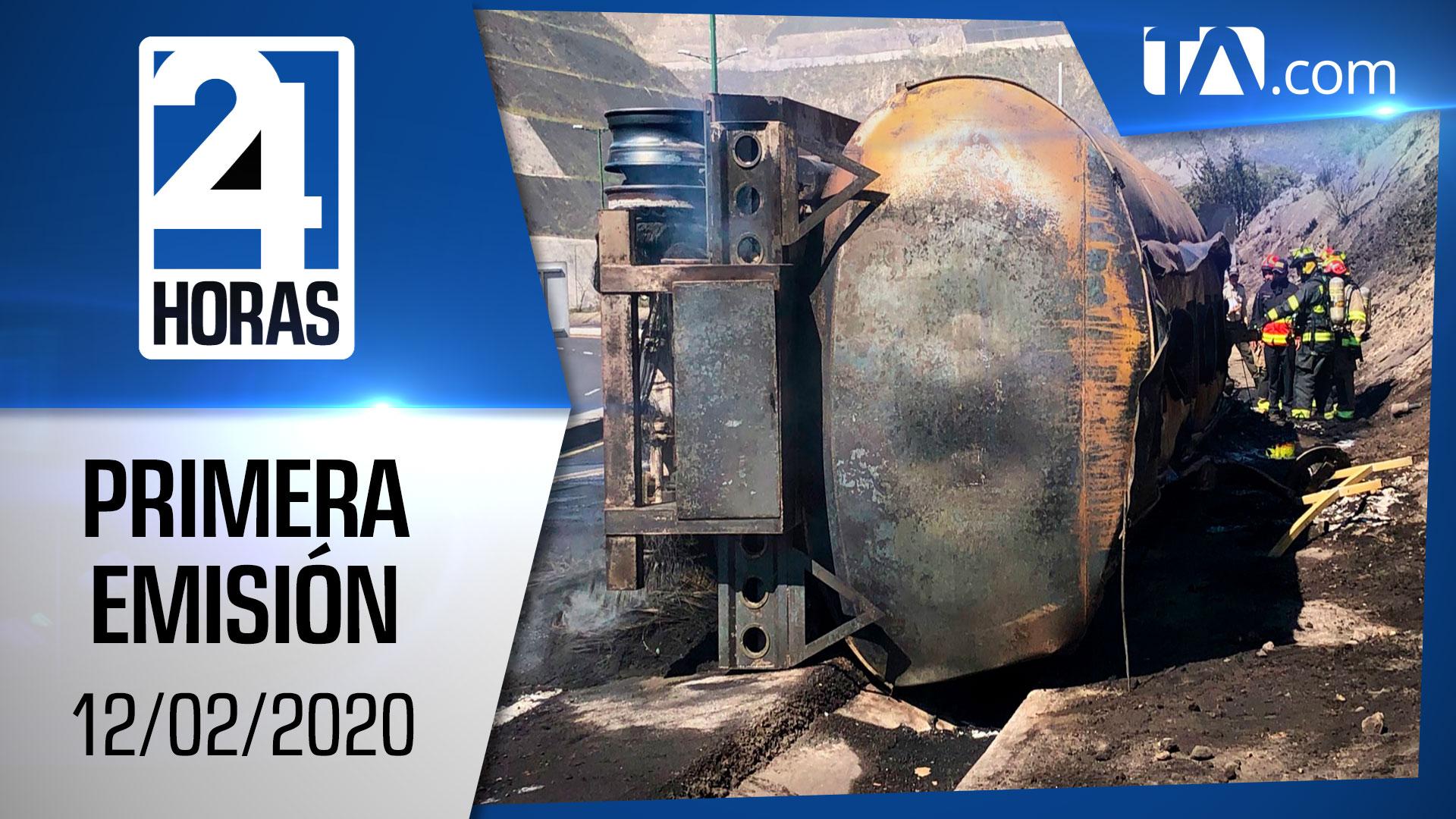 Noticias Ecuador: Noticiero 24 Horas 12/02/2020 (Primera Emisión)