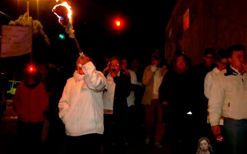 Moradores de Ponceano Bajo marcharon en contra de la delincuencia