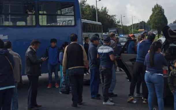 Se registra accidente de tránsito en El Troje