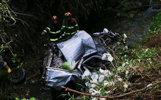 Accidente de tránsito en la vía El Quinche