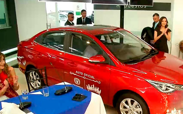Changan entregó un vehículo  a la reina de San Francisco de Quito