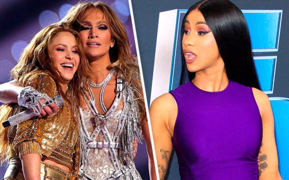 Cardi B llora por la presentación de Shakira y Jennifer López en el Super Bowl