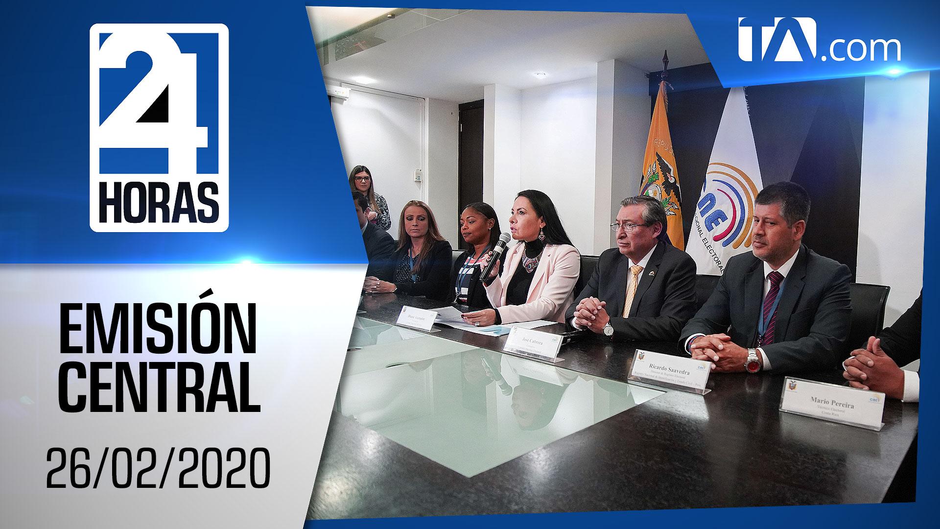Noticiero 24 Horas, 26/02/2020 (Emisión Central)