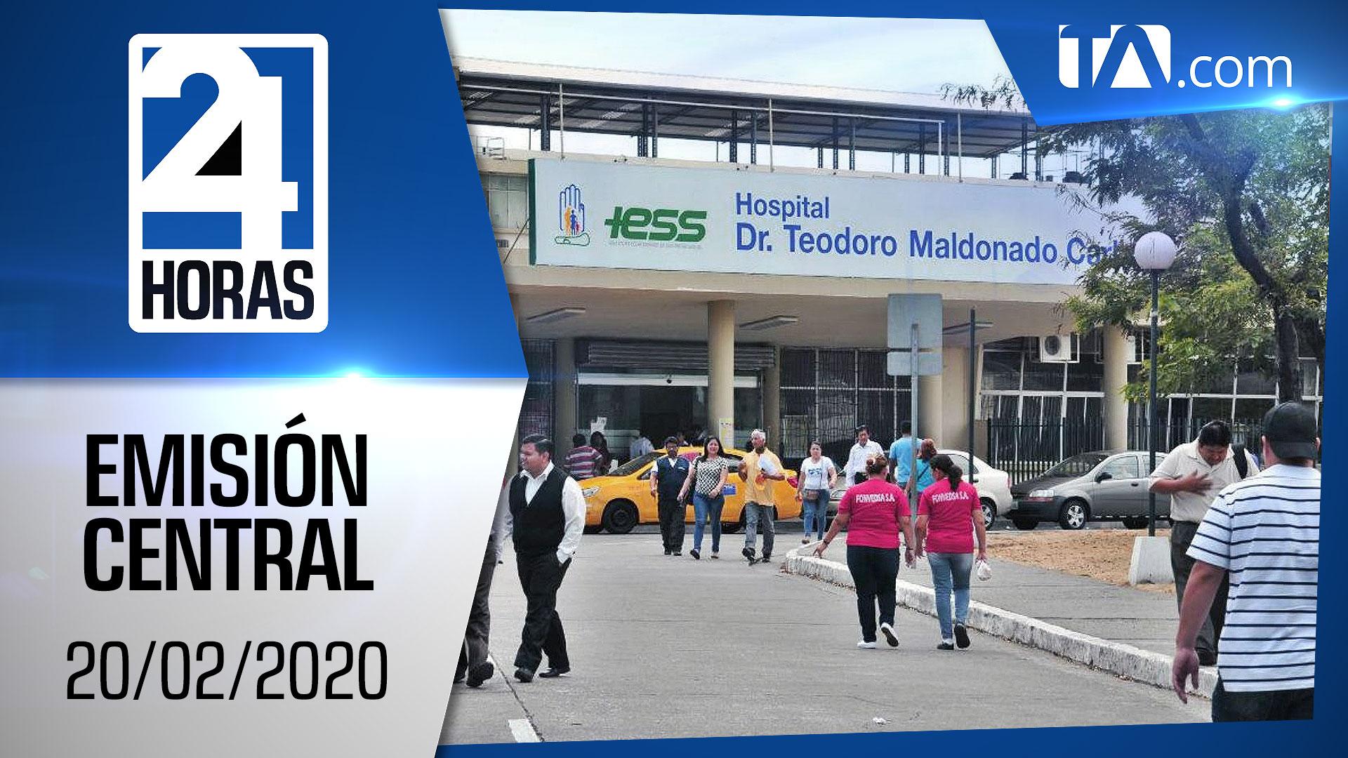 Noticiero 24 Horas, 20/02/2020 (Emisión Central)