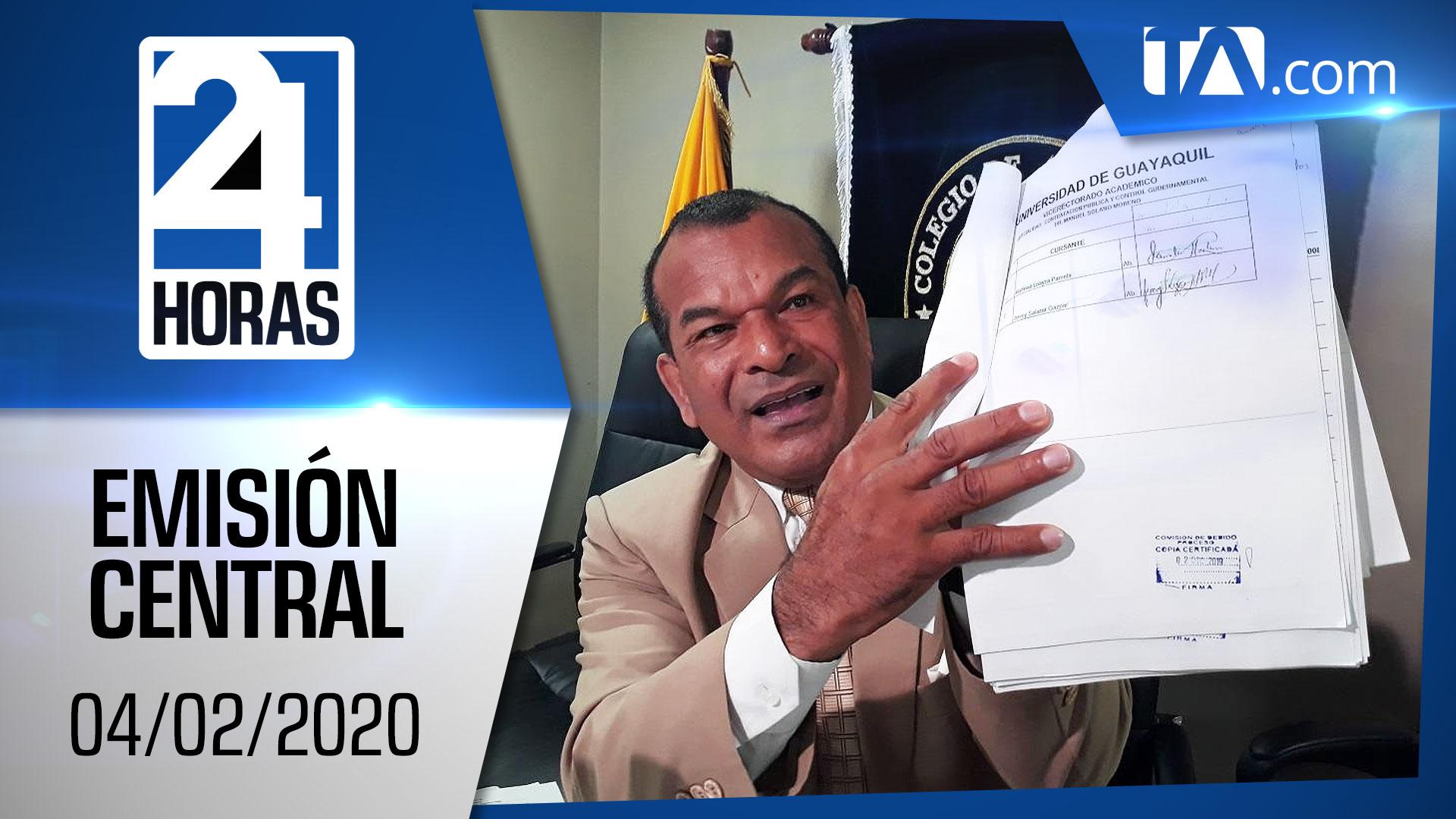 Noticiero 24 Horas, 04/02/2020 (Emisión Central)